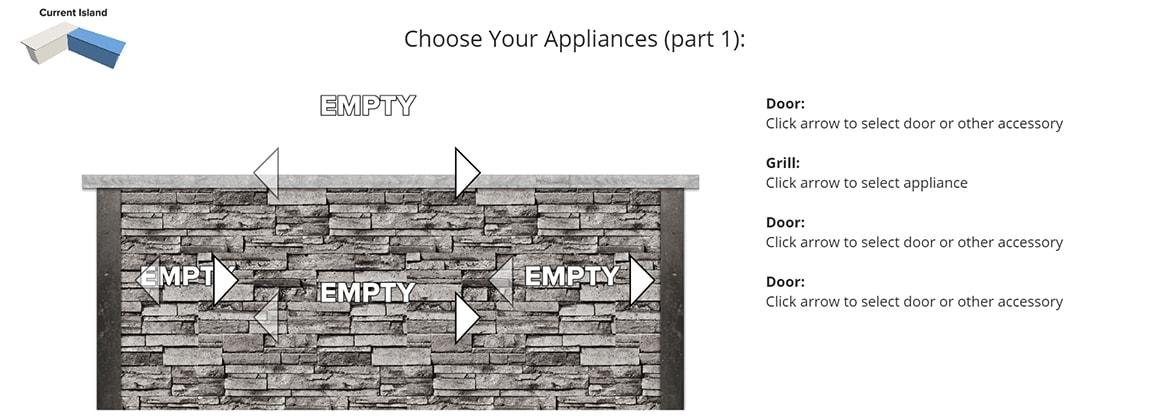 RTA Design Tool Choose Your Appliances Specifics