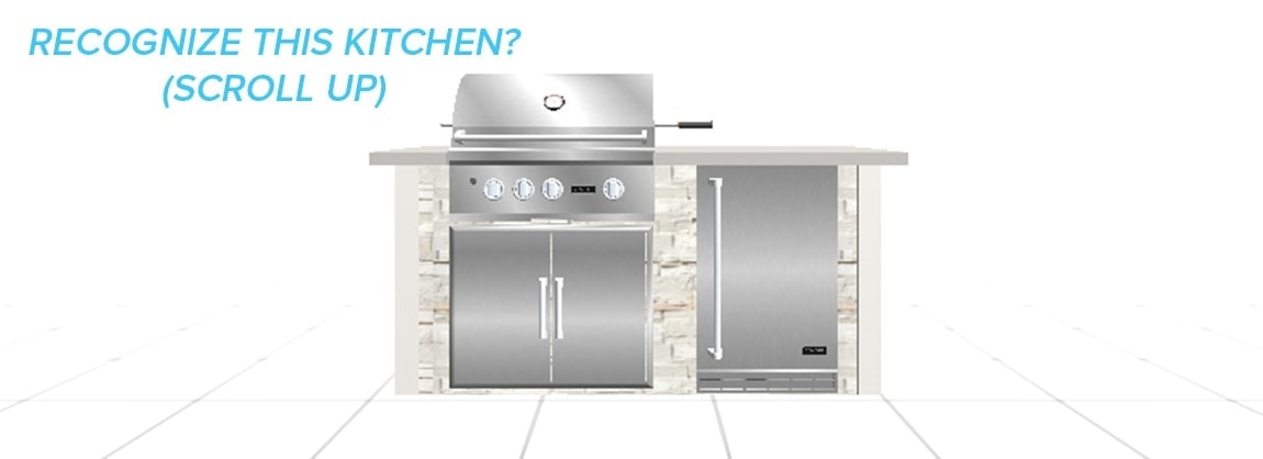 What the Same Kitchen Looks Like in Our Design Tool