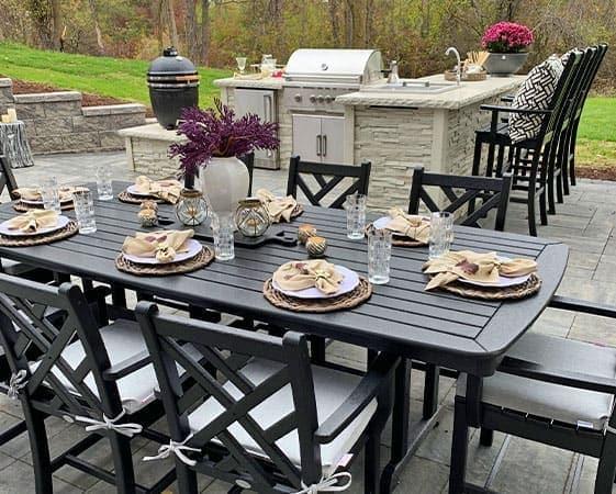 farah merhi outdoor kitchen space