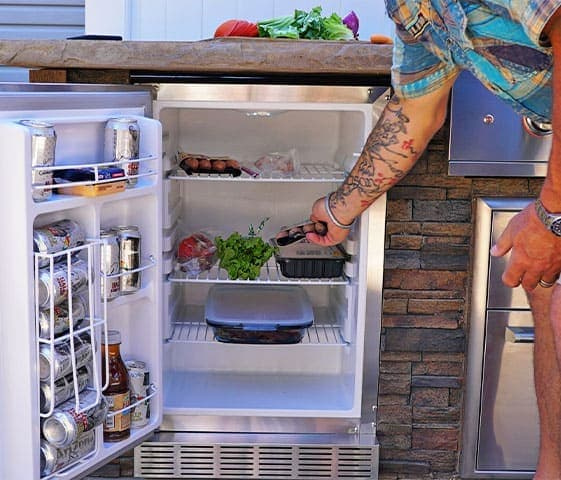 storage for outdoor kitchen cooking