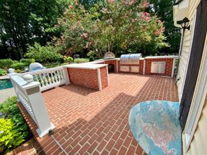 Brick U Shape Outdoor Kitchen by Pool 5