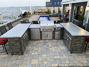U Shape Outdoor Kitchen by Ocean 2