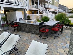 U Shape Outdoor Kitchen by Ocean 3