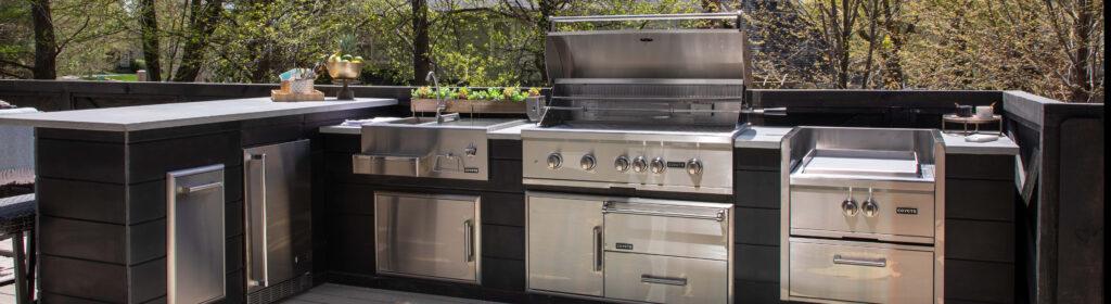 Custom RTA Outdoor Kitchen Plank Gray